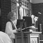 Arnfríður preaching at Loehe Chapel