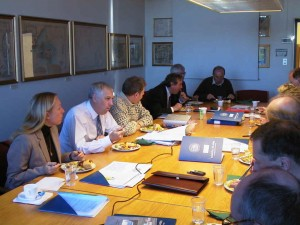 The first Board meeting of the Institute of International Affairs and Centre for Small States Studies at the University of Iceland, 19 October 2002.