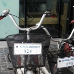 Bikes available for free use by students and staff at Mahidol University