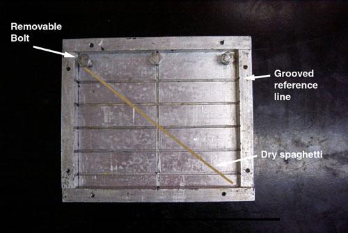 Aluminum embedding tray for epoxy resin