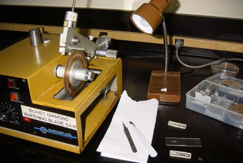 Isomet low-speed diamond bladed saw